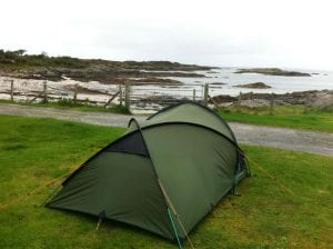 2 man tent at Arisaig