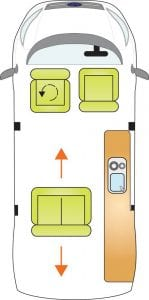 Auto Campers Classic Campervan layout 1