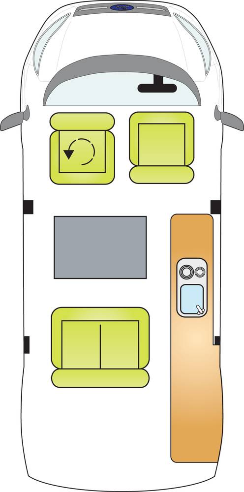 Auto Campers Classic Campervan layout