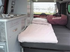 Highland Auto Campers Duvalay bedding