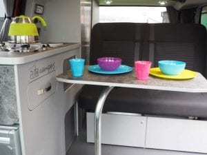 Highland Auto Campers dining table