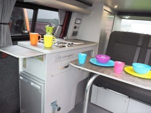 Highland Auto Campers kitchen area