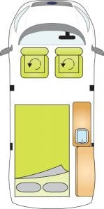 Highland Auto Campers Day Van Layout