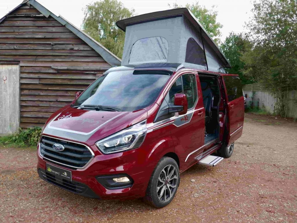 Auto Campers Multi recreational vehicle red campervan pop-top roof up