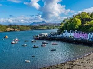 Portree Village in the Isle of Skye