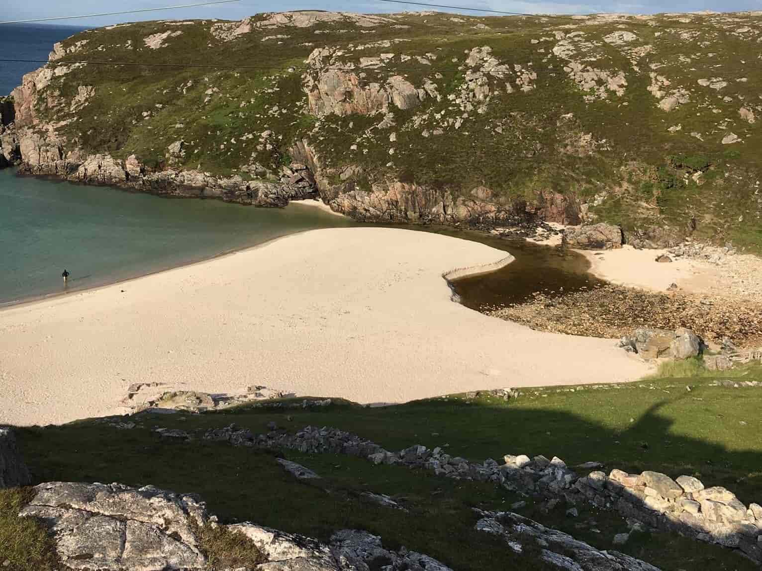 Scottish white sand beach