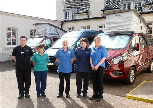 Highland Aut Campers hire vans to local care home in fight against Covid-19
